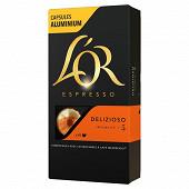 L'or espresso delizioso capsules x10 52g