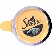 Sheba dôme pour chat aux filets de thon avec des crevettes roses 80g