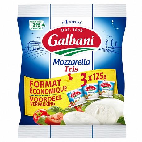 Galbani mozzarella 3x125 g
