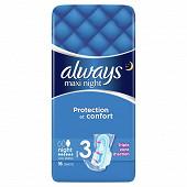 Always maxi night serviettes hygiéniques x16