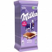 Milka tendre lait format familial 6x100g
