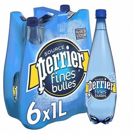 Perrier Fines Bulles eau minérale naturelle gazeuse 6x1L
