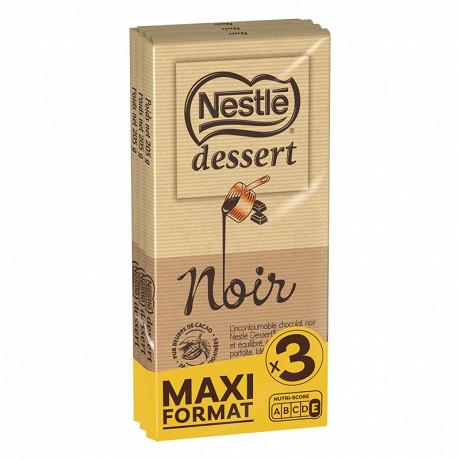 Nestlé dessert chocolat noir 3 x 205g