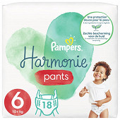 Pampers harmonie Langes geant taille 6 18ct
