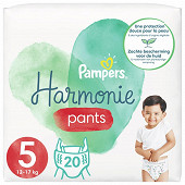 Pampers harmonie langes geant taille 5 20ct