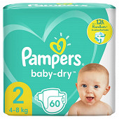 Pampers baby dry geant 60ct