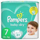 Pampers baby dry lenges geant 31ct