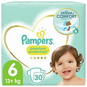 Pampers premium protection langes géant taille 6 x30