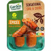 Herta Le bon végétal Saucisse crue épicée soja et paprika 180g