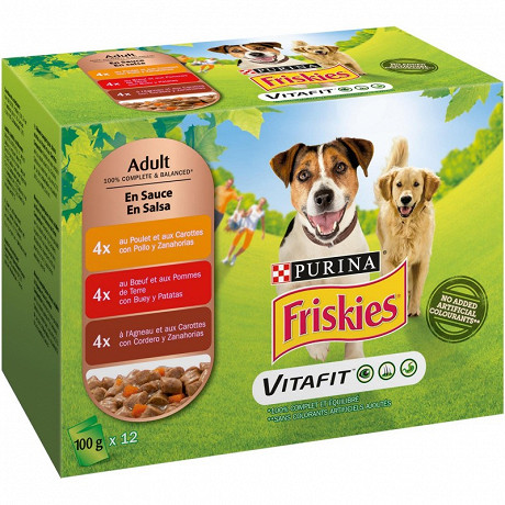 Friskies chien multi sauce (12x100g)