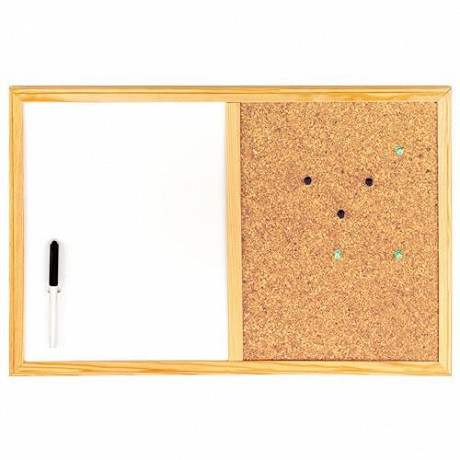 Ulmann tableau bivalent liège et blanc 60x40 cm