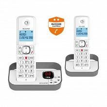 Alcatel Téléphone sans fil duo répondeur F860 VOICE DUO GREY