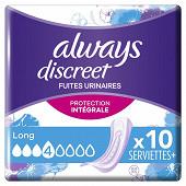 Always discreet serviettes long X10