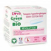 "Love & green bio tampons hypoallergeniques digitaux ""normal"" x16"