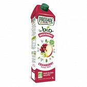 Pressade bio cranberry brique 1 l