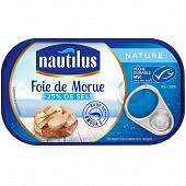 Nautilus foie de morue nature 1/4 - 120 g