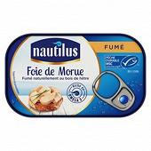 Nautilus foie de morue fumé boîte 1/4 120g tir-up