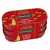 Connetable les petites sardines à l'huile d'olive extra vierge 55gx3