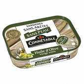 Connétable sardines sans peau et sans arêtes à l'huile d'olive vierge extra 1/5 140g