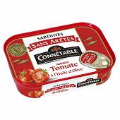 Connétable 1/5 sardines sans arête sauce tomate à l'huile d'olive vierge extra 140g