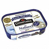Connetable 1/5 sardines sans arêtes au naturel 98g