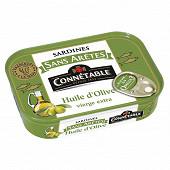 Connétable 1/5 sardines sans arête à l'huile d'olive vierge extra 140g