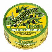 Le savoureux miettes généreuse de thon à l'huile d'olive vierge extra 160g 1/5
