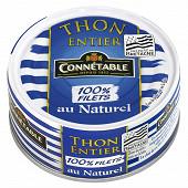 Connetable thon albacore entier au naturel 100% filets 1/5 112g