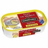Connetable foie de morue nature au citron 121 g