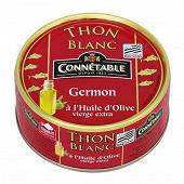 Connétable 1/5 thon blanc germon à l'huile d'olive vierge extra 160g