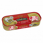 Connetable filets de maquereaux 1/4 rouge à la moutarde de dijon 169g