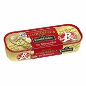 Connetable 1/4 filets de maquereaux label rouge marinés au muscat et aromates 176g