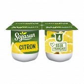 Sojasun spécialité au soja fermentée sucrée au citron 4x100 g