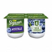 Sojasun spécialité au soja fermentée sucrée aux myrtilles 4x100 g