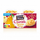 Charles & Alice pomme poire crumble 2x120g