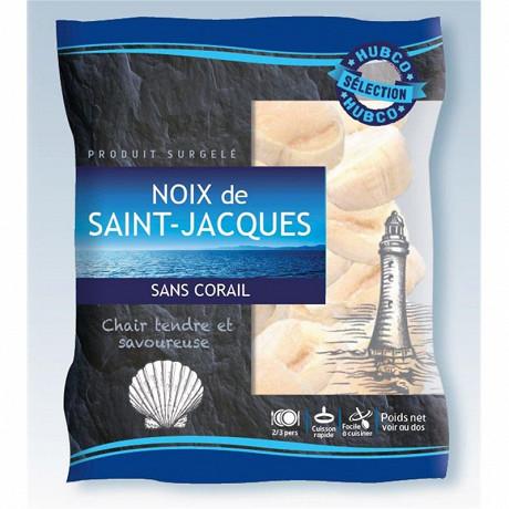 Hubco noix de Saint Jacques sans corail 40/60 origine Pérou 250g
