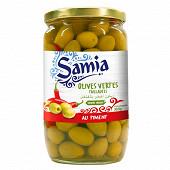 Samia olives verts pimentées 380g