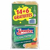 Gratte-éponge stop graisse 14+6 offertes