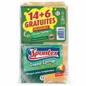 Gratte-eponge stop graisse 14+6 ge stop bacteries offertes