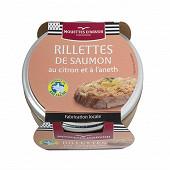 Les mouettes d'arvor rillettes de saumon au citron et à l'aneth 125g