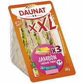 Daunat Club sandwich  XXL jambon cheddar 230g