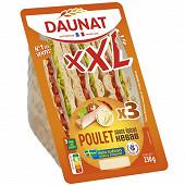 Daunat sandwich pain suedois xxl poulet kébab 230g