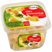 Cora dés d'Emmental au lait pasteurisé 28%mg 150g