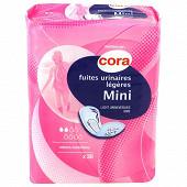 Cora protections pour fuites urinaires légères mini en sachet de 20