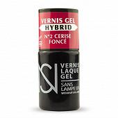 Vernis à ongles gel hybride ns n°02 cerise fonce