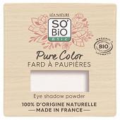 So bio fard a paupieres pure color 06 blanc strass