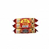 Big choco paquets chocolat noir lot de 3x250g 2+1 offert