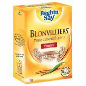 Beghin say blonvilliers poudre pure canne blond etui bec verseur 1kg