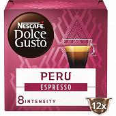 Nescafé Dolce Gusto bio peru espresso, capsule café x12 dosettes 84g