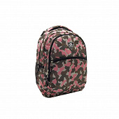 Sac à dos camouflage gris rose - teen college